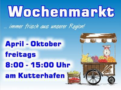 Bild der Meldung: Wochenmarkt am Kutterhafen