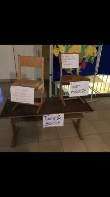 Vorschaubild zur Meldung: Stühle und Tische abzugeben!