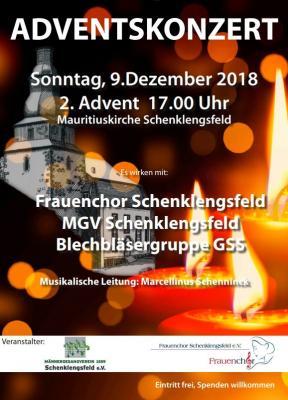 Vorschaubild zur Meldung: Adventskonzert Frauenchor/MGV und Bläserensemble Gesamtschule Schenklengsfeld