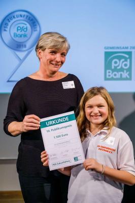Foto zur Meldung: Preisübergabe PSD Zukunftspreis 2018