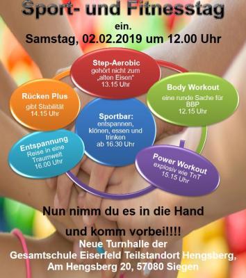 Vorschaubild zur Meldung: Jetzt schon vormerken - Sport und Fitnesstag am 02.02.2019!