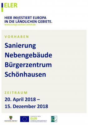 Vorschaubild zur Meldung: Sanierung Nebengebäude Bürgerzentrum Schönhausen (Elbe)