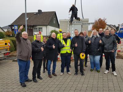 Foto zur Meldung: Zentrale Verteilerstation für Glasfaserverkabelung in Holzhausen errichtet