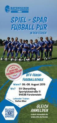Flyer BFV-Ferien-Fußballschule