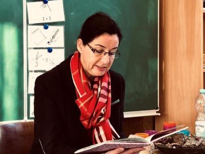Bürgermeisterin Koch in der Grundschule Grasleben