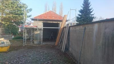 Rastplatz Thallwitz während der Baumaßnahmen