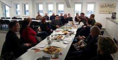 Foto zur Meldung: Ausbildungsnetzwerk trifft sich im Milchgut Görlsdorf