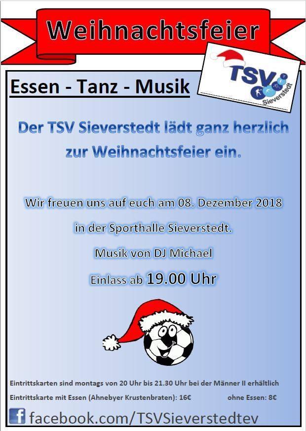 Vorschaubild der Meldung: Weihnachtsfeier des TSV Sieverstedt