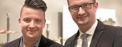 Kai Winkler (l.) mit Christian Tischner. Foto: Martin Fritzsche