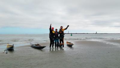 Foto zur Meldung: Ausbildung für Küstenpaddler beim LKV Niedersachsen
