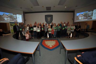 Foto zur Meldung: Verleihung Grüne Hausnummer
