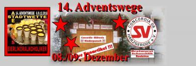 Foto zur Meldung: 14. Adventswege vom 08./09. Dezember mit Concordiastand