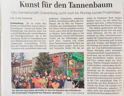 Vorschaubild zur Meldung: Unser Weihnachtsbaum in der Bernauer Straße