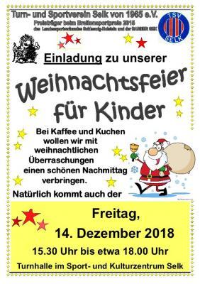 Vorschaubild zur Meldung: Weihnachtsfeier für Kinder des TSV Selk