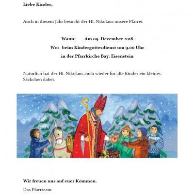 Besuch des Nikolauses