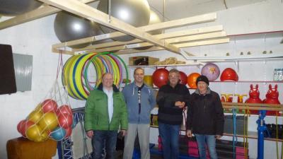 Vorschaubild zur Meldung: TSV Holzhausen gestaltet Geräteraum im Bürgerhaus neu