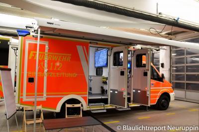 Der neue ELW 2 der Feuerwehr Neuruppin. Quelle: Blaulichtreport Neuruppin