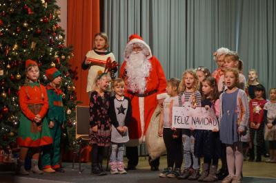 Foto zur Meldung: Besuch vom Weihnachtsmann