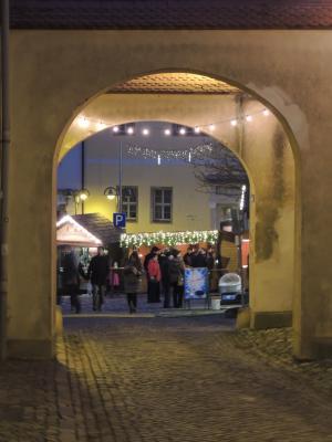 Blick von der Burgstraße auf den Markt