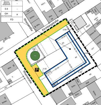 """Vorschaubild zur Meldung: Öffentliche Bekanntmachung - Vorhabenbezogener Bebauungsplan """"Betreutes Wohnen mit Zwergenstube"""", Rheinstraße mit Vorhaben- und Erschließungsplan"""