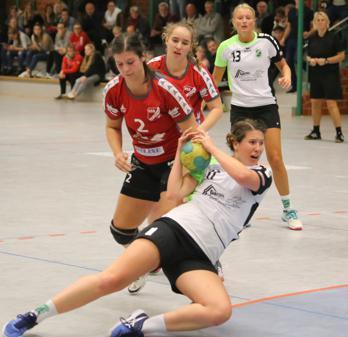Vorschaubild zur Meldung: Handball Damen Oberliga: 1. Damen bezwingen Aufstiegskandidaten Stade
