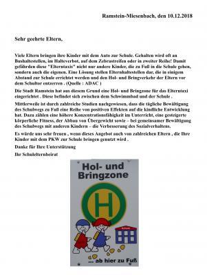 Vorschaubild zur Meldung: Brief des Schulelternbeirates zur neuen Hol- und Bringzone