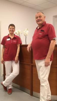 Herr Leonard van der Meide mit seiner Mitarbeiterin Frau Ingrid Lang