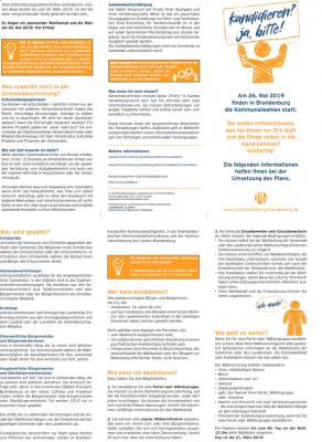 Vorschaubild zur Meldung: Stadt Wriezen: Information zur Kommunalwahl