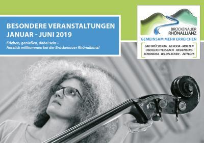 Vorschaubild zur Meldung: Veranstaltungskalender der Brückenauer Rhönallianz für das erst Halbjahr 2019