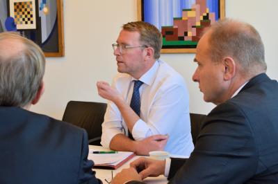 Staatssekretär Stefan Muhle besucht Landkreis Helmstedt