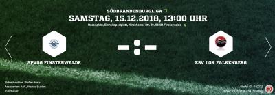 Foto zur Meldung: Fußball - letzter Spieltag im Kalenderjahr 2018