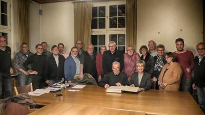 Foto zur Meldung: Letzte Sitzung im Sitzungssaal des Rathauses vor dem Umbau