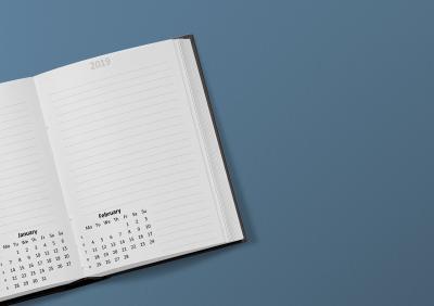 Ihr Kalender sollte für 2019 einige Rahmendaten enthalten!