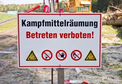 Foto zur Meldung: Wieder Munitionssprengung am Wandlitzer See