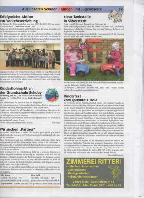 Foto zur Meldung: Grundschule Schuby im Amtsblatt