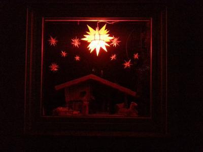 3. Adventsfenster bei Familie Manigk