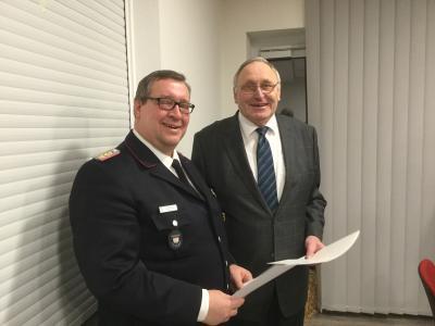 Foto zur Meldung: Manfred Riemann zum Amtswehrführer ernannt