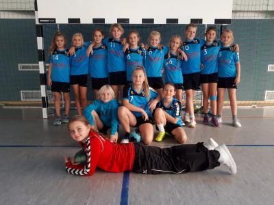Foto zur Meldung: Handball- Nachwuchs: E- Jugend des HSV 04 ist Herbstmeister