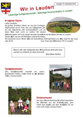 Vorschaubild zur Meldung: Infoblatt Wir in Laudert - Ausgabe 14