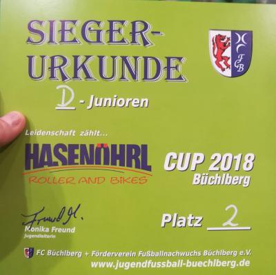 Siegerurkunde Hasenöhrl-Cup 2018