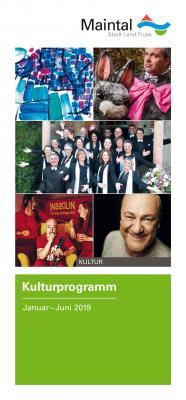 Die Vielfalt wird in Maintal gelebt – und das wird in der ersten Halbjahres-Ausgabe des Maintaler Kulturprogramms 2019 widergespiegelt. Foto: Titelblatt des Programmheftes