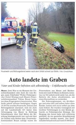 Vorschaubild zur Meldung: Einsatz Nr.154 - Verkehrsunfall Kreisstraße