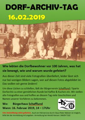 Foto zur Meldung: Einladung Dorf-Archiv-Tag