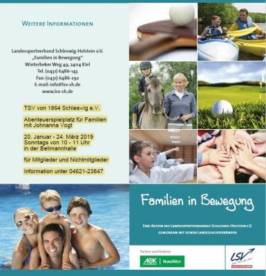 Vorschaubild zur Meldung: Familien in Bewegung - Abenteuerspielplatz beim TSV Schleswig