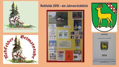 Foto zur Meldung: Rehfelder Jahresrückblick 2018 in der Heimatstube