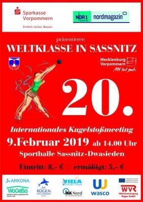 """Vorschaubild zur Meldung: """"Weltklasse in Sassnitz"""" – Internationales Kugelstoßmeeting am 09. Februar"""