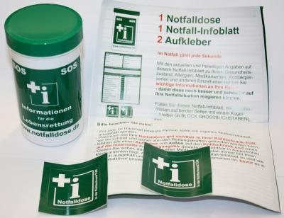 Vorschaubild zur Meldung: SOS-Notfalldose bei der Gemeindeverwaltung Dettenheim erhältlich