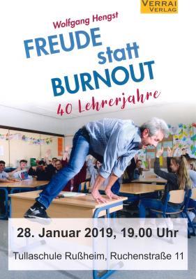 """Vorschaubild zur Meldung: Das Kulturforum Dettenheim präsentiert """"Freude statt Burnout"""" – Vortrag zum neuen Buch von Wolfgang Hengst"""
