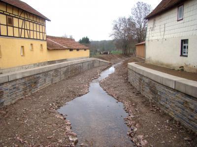 Abgenommen wurde auch der Flussabschnitt von der Straßenbrücke bis zur Einmündung der Lauter in die Werra