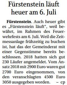 Vorschaubild zur Meldung: Fürstenstein läuft heuer am 6. Juli
